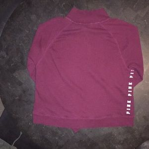 PINK Victoria's Secret Tops - Victoria Secret maroon half zip sweatshirt